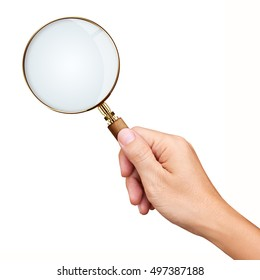 Hand Holding Magnifying Glass Images Stock Photos Vectors Shutterstock