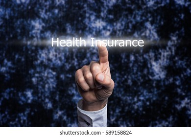 Hand holding a Health Insurance Concept