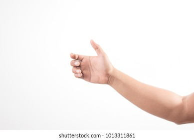 Hand holding invisible item.signs concept