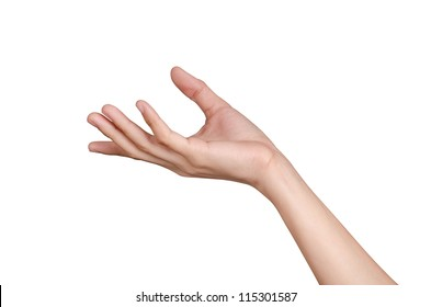 Hand holding isolate on white background  with clipping path