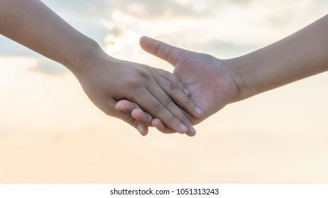 hand holding lovely story. good memories time