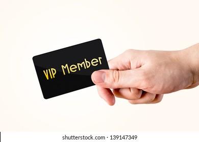 Hand holding member card