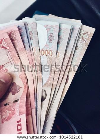 Hand Holding Money Bill Buy Something Stock Photo (Edit Now
