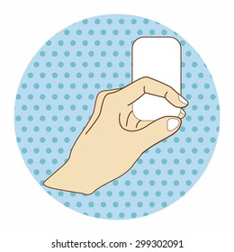 hand holding paper theme elements