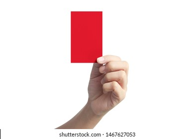 Hand holding a Red card with your