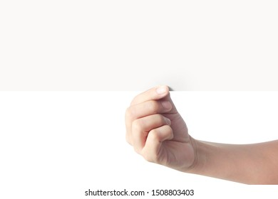 Hand holding virtual a paper with your