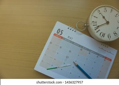 Pregnant Woman with Calendar Stock Photos, Images