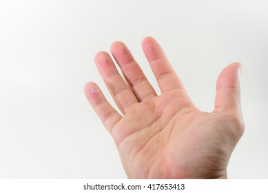 Hand injured and white background