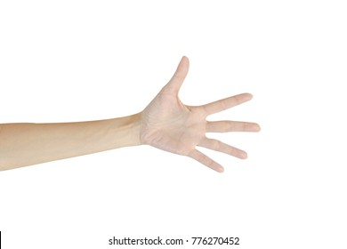 A Hand Isolated on White background