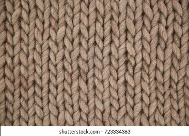 Hand knit woolen texture in full frame