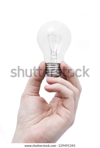 hand with the light bulb