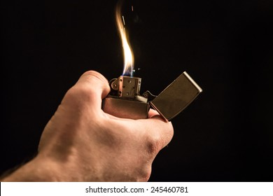 Hand and a lighter