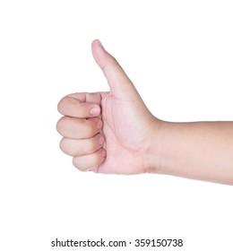 Hand like isolated on white background