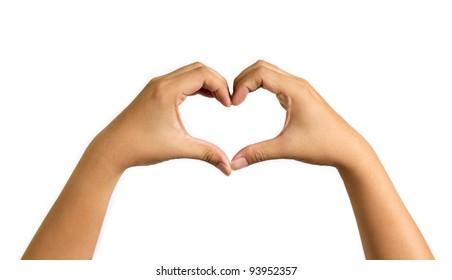 hand in love shape