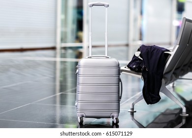 Hand luggage in the airport