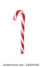 Hand made candycane isolated on white