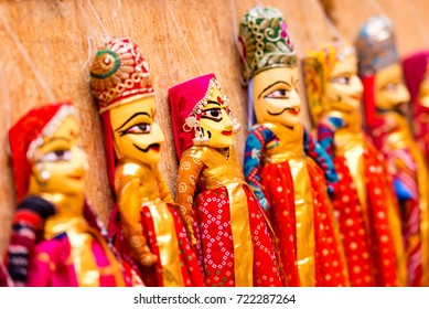 Hand made colorful Rajasthan puppets