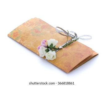 Hand made invitations isolated on white background