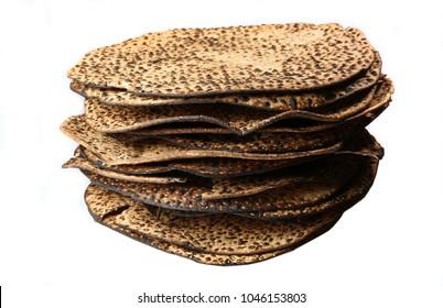 Hand made matza for  jewish passover