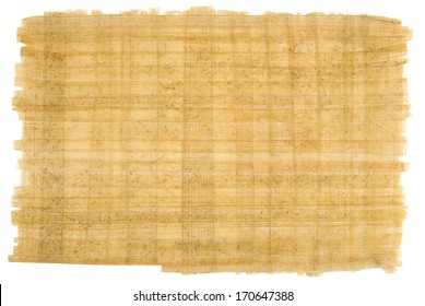 Hand made organic bamboo paper isolated on white.