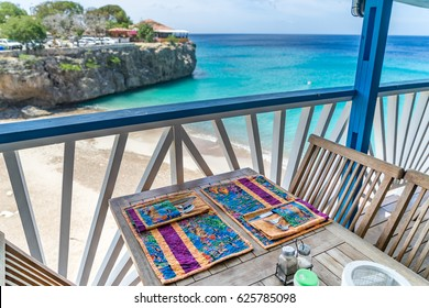 Hand made place mats Views around the Caribbean Island of Curacao