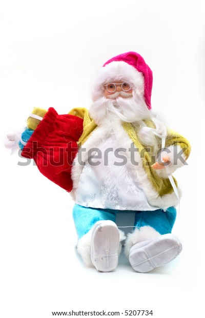 Hand made Santa on white