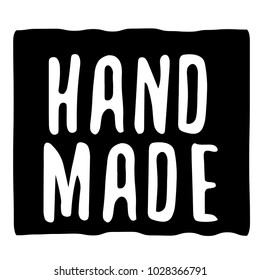 Hand Made typographic stamp. Typographic sign, badge or logo.