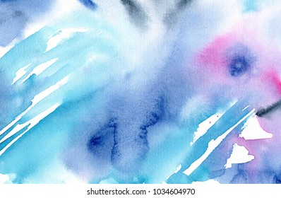 hand made watercolor wash texture / abstract artistic painted background