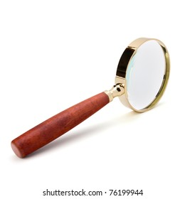 hand magnifier isolated on white background
