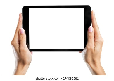 Hand, man, tablet.