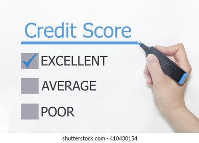 Hand with marker writing Credit Score concept
