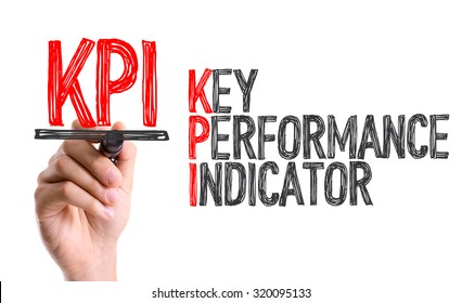 Hand with marker writing: KPI