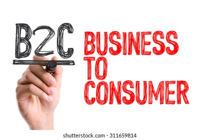 Hand with marker writing the word Business to Consumer