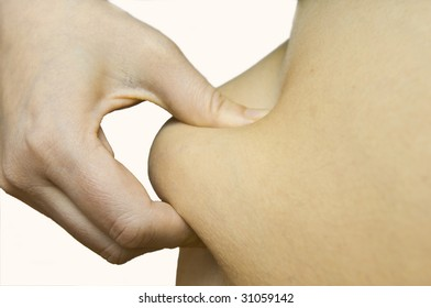hand is measure the body fat