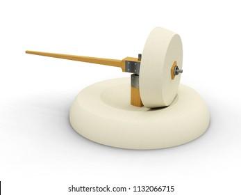 Hand mill, Leonardo da Vinci 3D model.