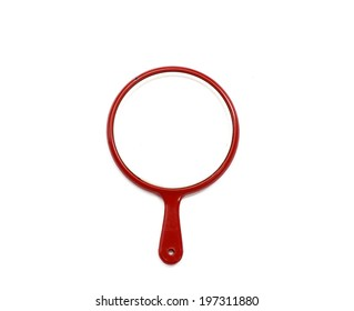 Hand mirror isolated on white background