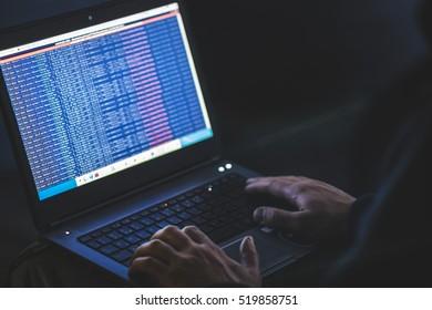 hand notebook hacking hacker