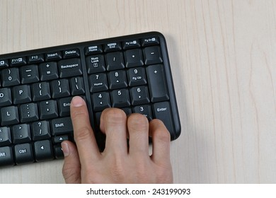 The Hand On Keyboard