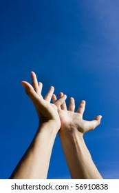 Hand on sky,looking for help