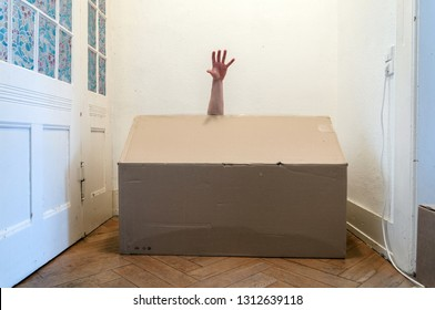 Hand out of Box