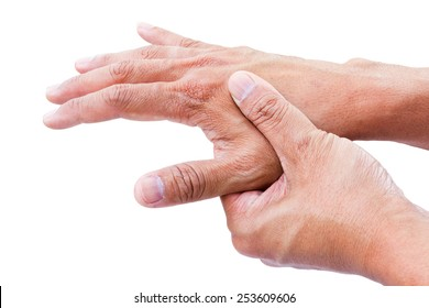 hand pain isolate on white background