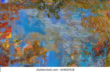 hand painted  abstract background