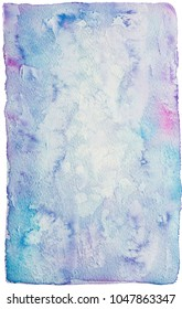 Hand painted bright watercolor texture on white background