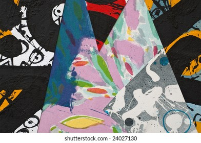 Hand Painted Paper Collage as Design Element