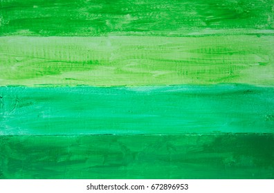 Hand painted shades of green wood panel background
