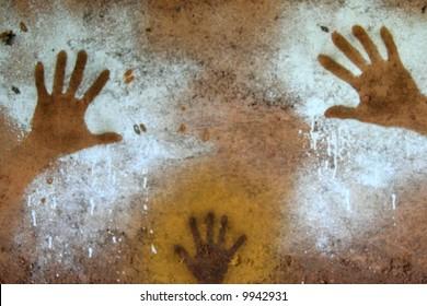 Hand Painting - Aboriginal Rock Art, Kakadu
