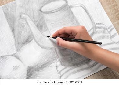 Hand painting still life
