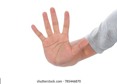 Hand palm up of high five