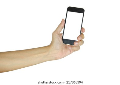hand phone isolated on the white background.