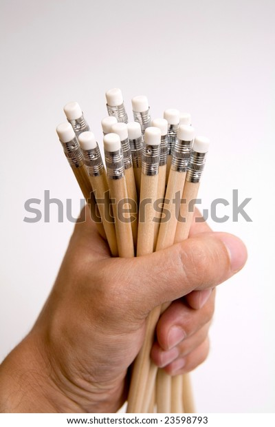 hand photo shot of pencils